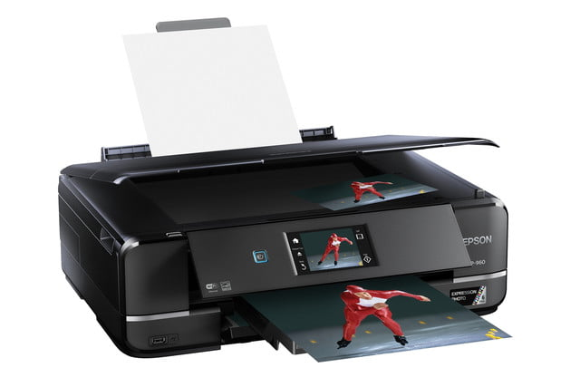epsons updated expression home photo printers include wide format model epson xp 960 right angle