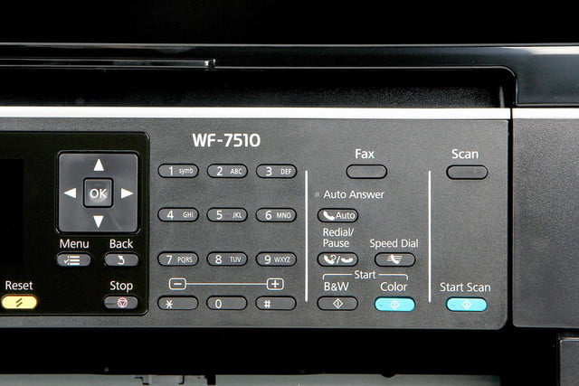 Epson WF-7510 front dial controls