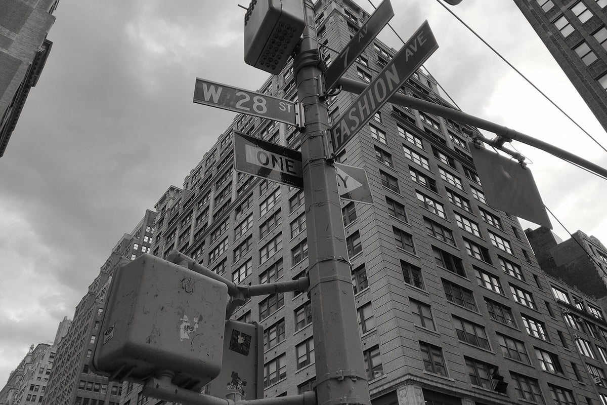 Essential Phone review camera samples street sign bw
