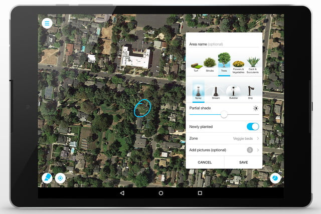 etwaters unity app shows you if are overwatering your lawn et tablet water 2