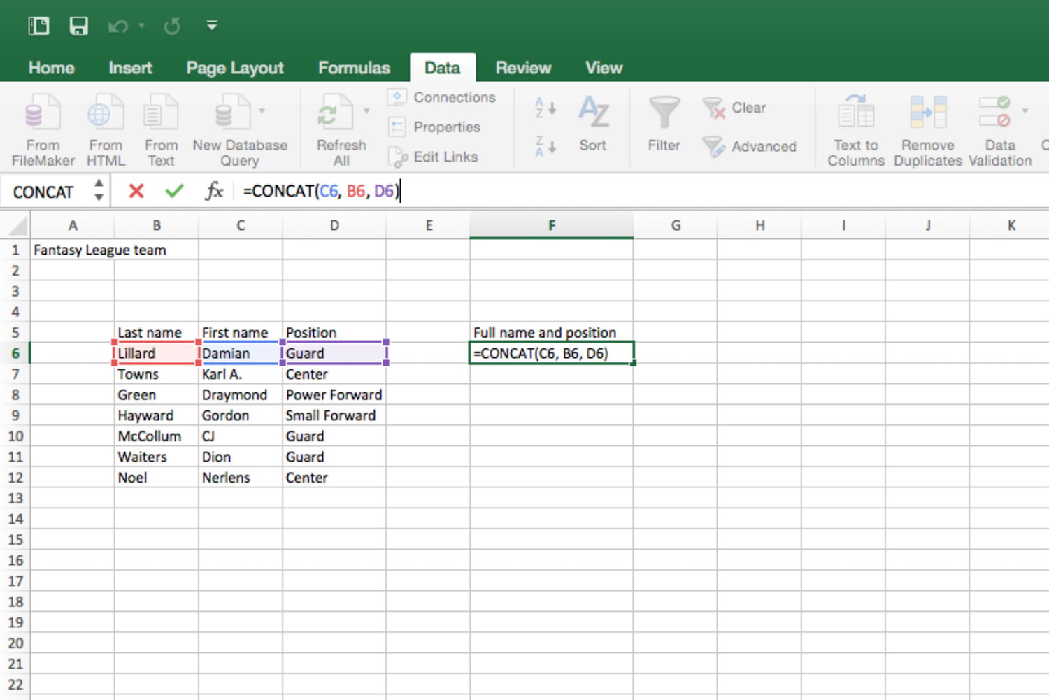 The best microsoft excel tips and tricks to get you started microsoft excel tips and tricks concat 1 alramifo Gallery