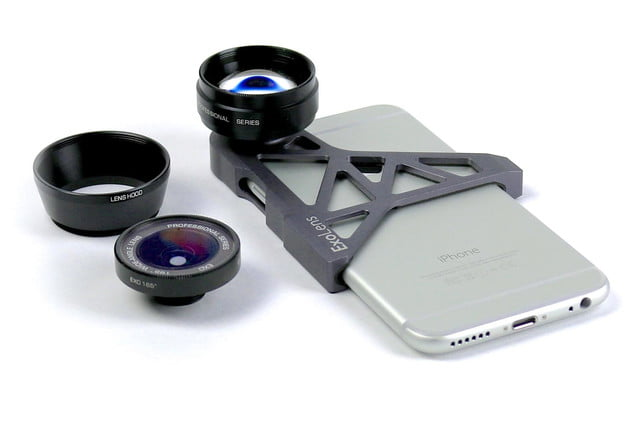 exolens premium wide angle and telephoto lens customized for iphone 6 4