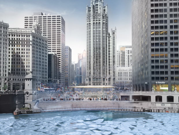 Chicagos New Apple Store Will Have A Giant Macbook On Its Roof - New apple store in chicago will have a giant macbook as its roof