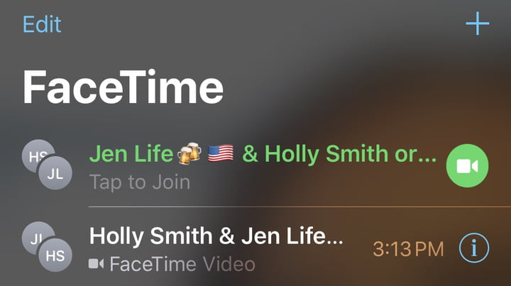 how to make a group facetime call ios 12 join