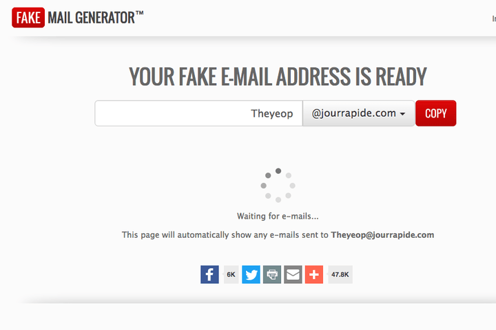 Fake Email Generator with your domain