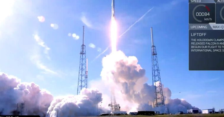 spacex launches both a reused rocket and capsule in successful iss cargo mission
