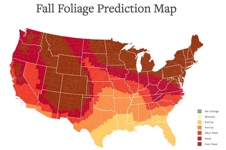 Photo op: This interactive foliage map will help you plan your fall adventures