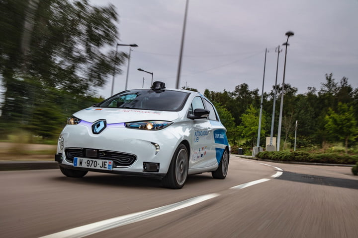 Renault self-driving car pilot Rouen, France