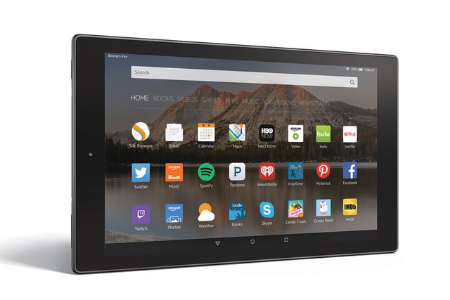 amazon fire hd 10 aluminum horizontal right