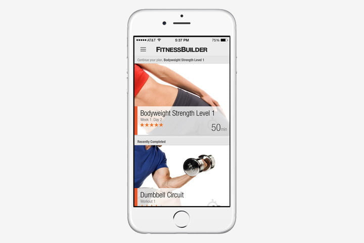best health and fitness apps for iphone fitnessbuilder