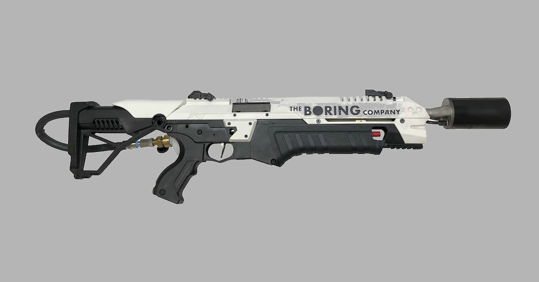 here s elon musk s 600 39 boring company 39 flamethrower. Black Bedroom Furniture Sets. Home Design Ideas