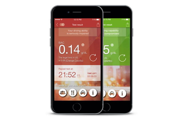 floome smart breathalyzer connects to your smartphone floorme app screenshot press image