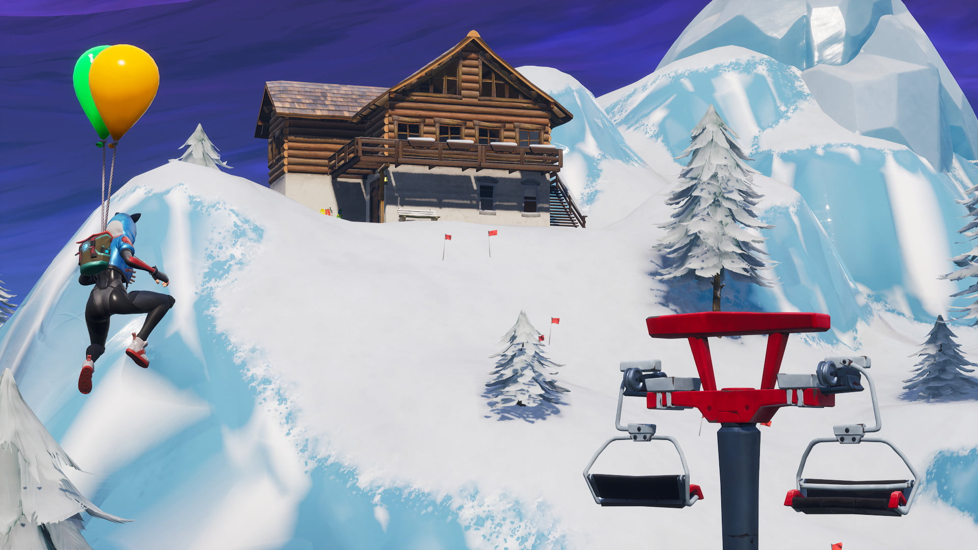 Searching between 3 ski lodges for the battle star