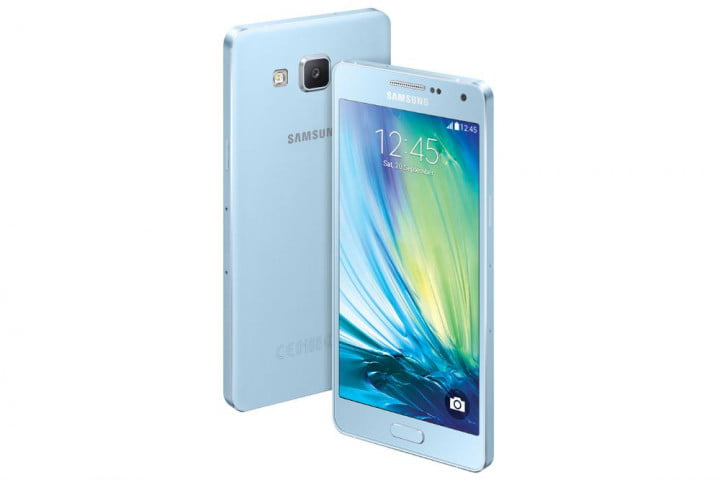 samsung galaxy alpha a5 and a3 news front rear blue
