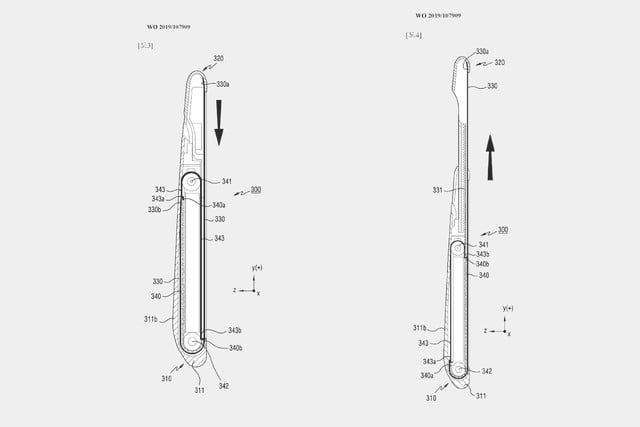 rollable samsung smartphone patent 2019 galaxy roll patents 1
