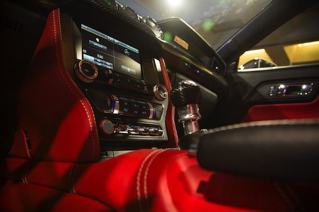 galpin auto sports unveils first production rocket mustang galpinrocket interior 03