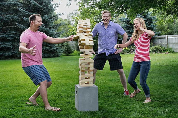 best outdoor yard games giant jenga