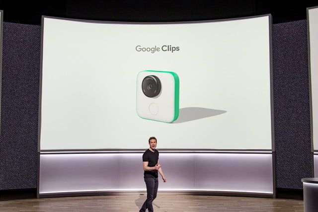 Google Clips on stage at Oct 4 Event
