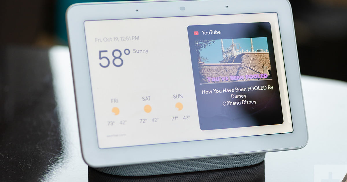 Google accidentally reveals Nest Hub Max with 10-inch screen, built-in camera