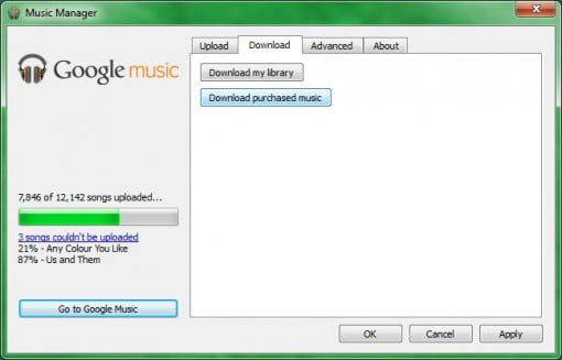 download google music library to phone