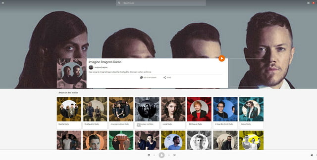 google music announces free ad supported tier play imagine dragons radio