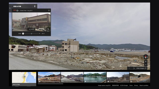 you can time travel using google street view japanearthquake