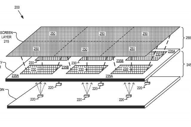 Google Patent Describes Tileable Displays To Turn Your Living Room Into A Movie Theater