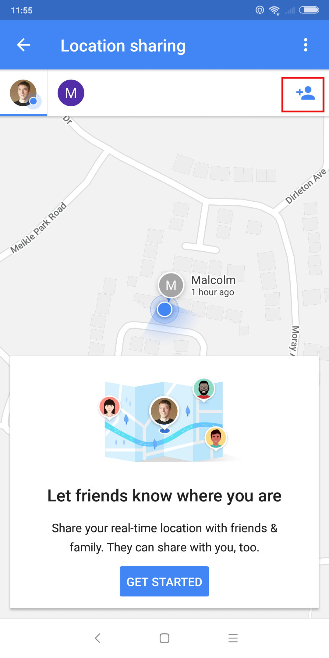44c4c153dae Share real-time location in Google Maps