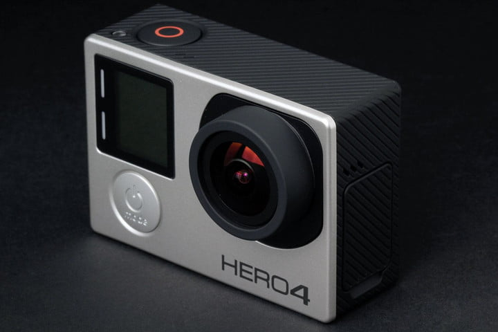 GoPro Hero4 Silver front top angle