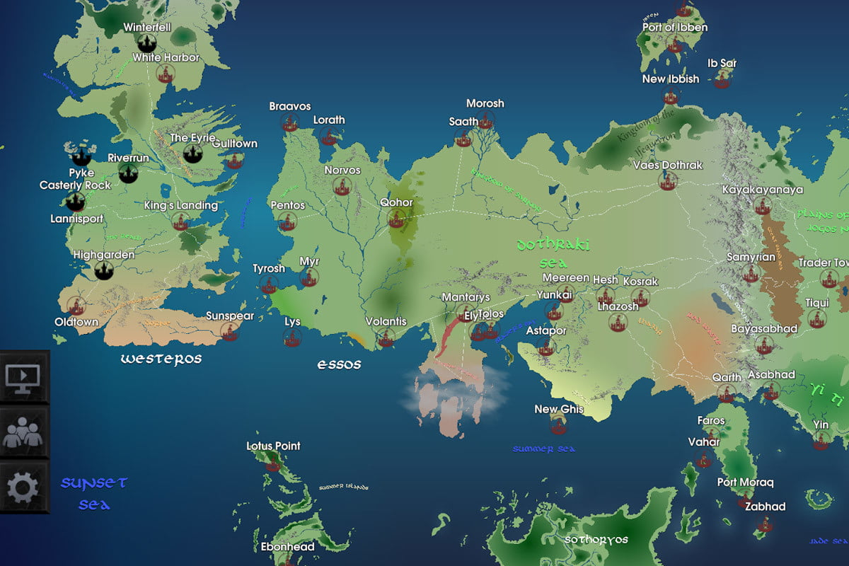 Game of thrones interactive map available for ios android digital game of thrones interactive map available for ios android digital trends gumiabroncs Gallery
