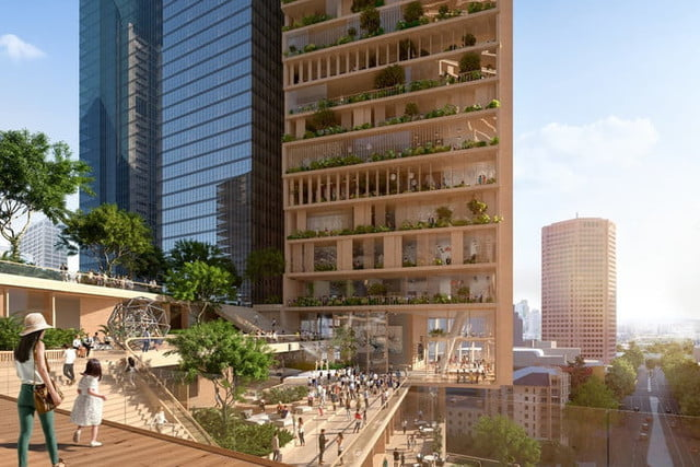 spectacular twisting tower could become australias tallest building green spine 5