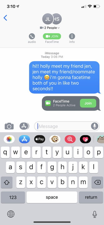 how to make a group facetime call ios 12 2