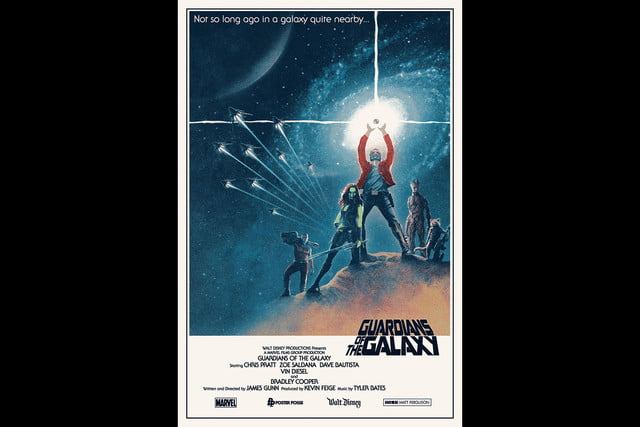 best stranger things style movie posters guardians of the galaxy by matt ferguson