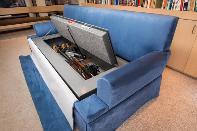 couchbunker bullet resistant sofa gun safe heracles research corporation 0012