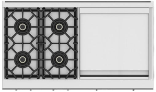 hestan commercial cooking suites home chefs 48 inch 4 burner rangetop with 24 griddle  krt series