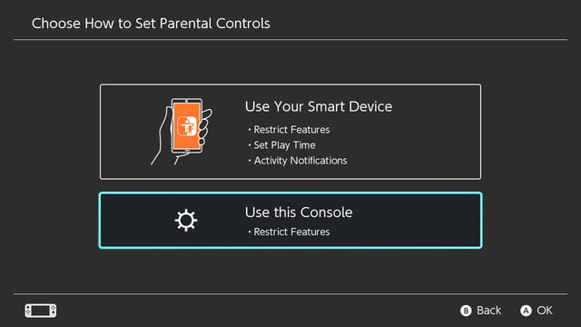 how to set parental controls on the nintendo switch restrict features