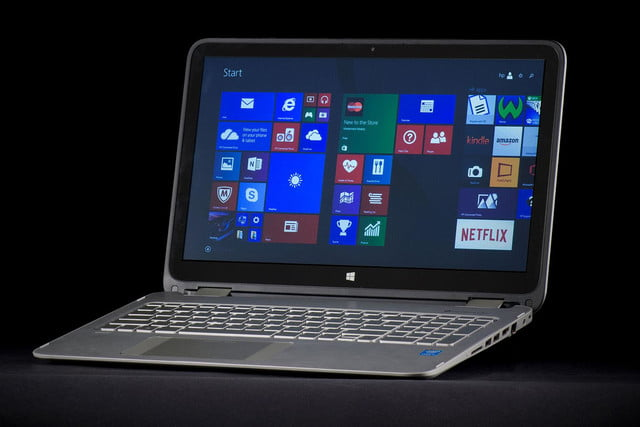 HP Envy X360 front angle