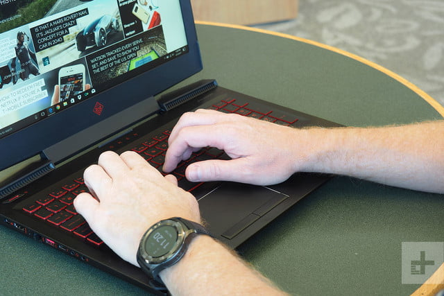 HP Omen 15 review typing 3