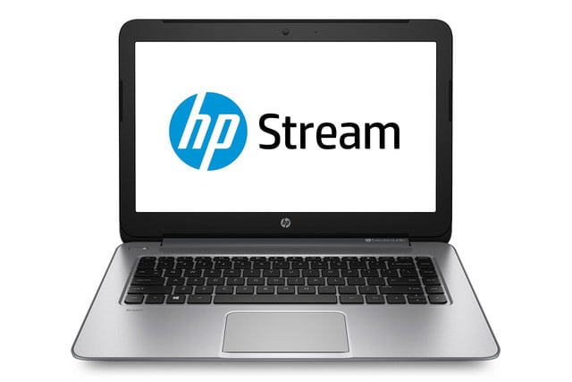 HP Stream silver press image