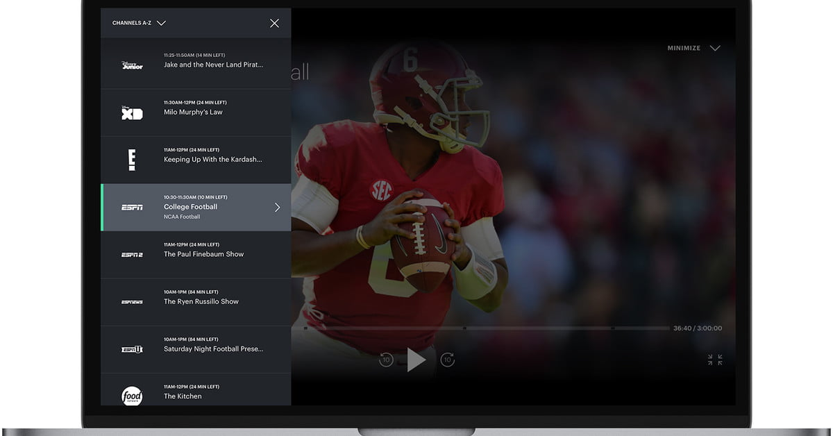 Hulu's live TV service is getting a TV guide but only on web browsers, for now