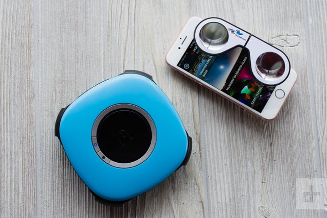Vuze Camera with iPhone and Humaneyes glasses