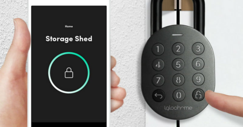 The Igloohome Smart Padlock protects your stuff with PIN codes, Bluetooth keys