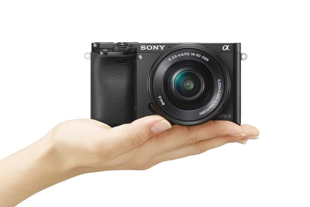 sony unveils alpha a6000 mirrorless camera ilce 6000 wselp1650 on hand black 1200