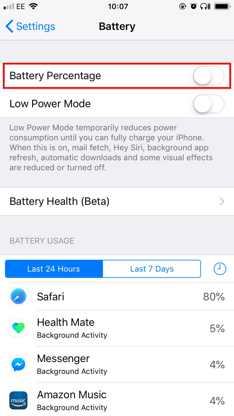 10 Settings You Need To Change On Your Apple Iphone X Or 8 5 Logic Board Diagram Battery Percentage