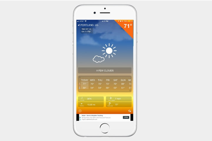 best weather apps for iphone iweather screenshot