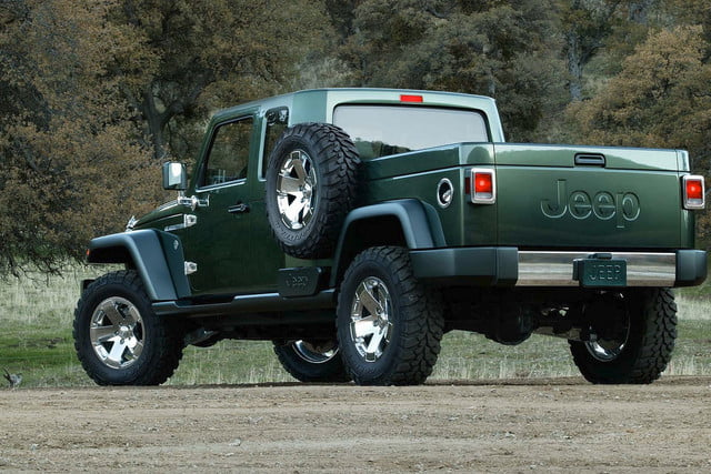 jeep wrangler pickup specs news rumors 2005 gladiator concept 5