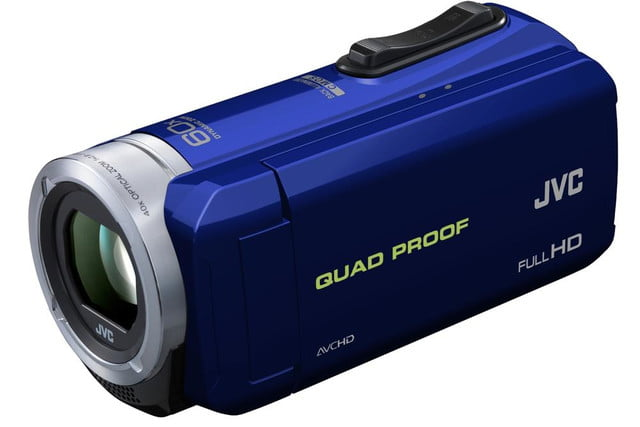 rugged pov cams go full size jvcs weather everio jvc gzr10 blue