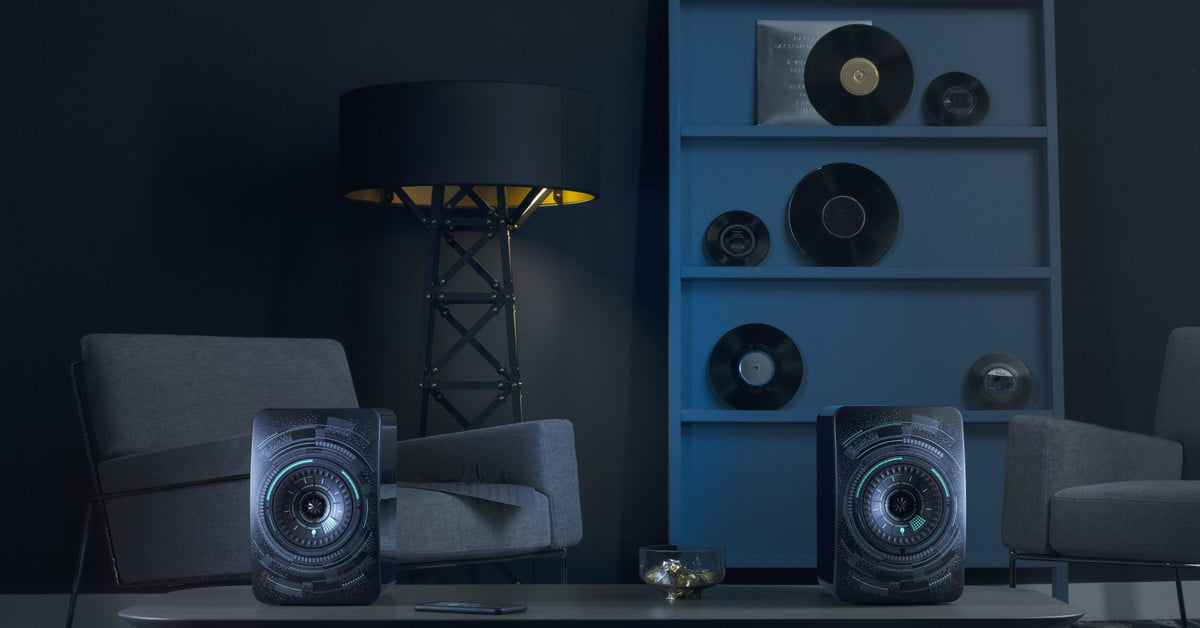 nocturne edition of kef s ls50 wireless speakers look as good as they sound. Black Bedroom Furniture Sets. Home Design Ideas