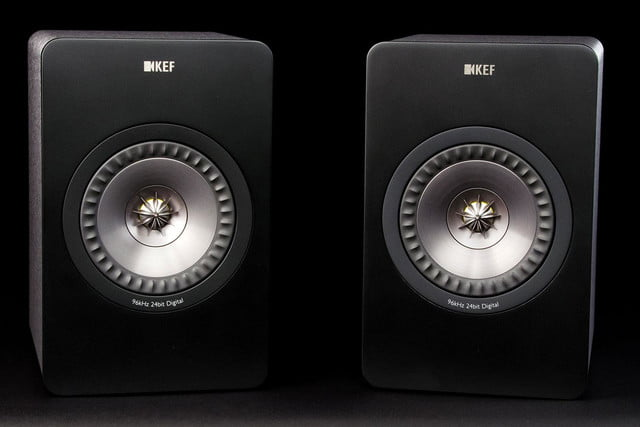 KEF X300 A review speakers side by side