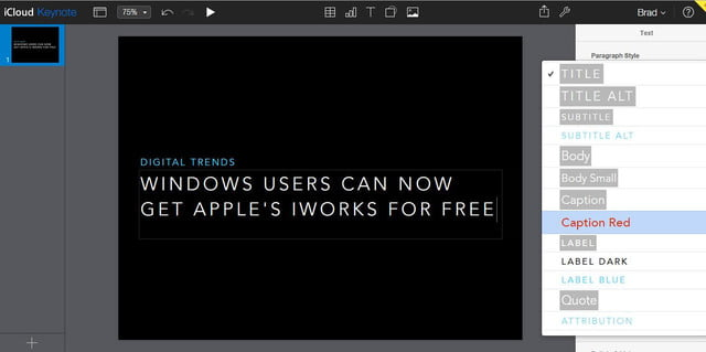 windows users can now get apples iworks free keynote from apple s on icloud
